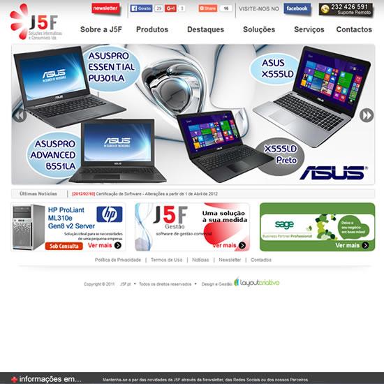 Desenvolvimento de website – J5F