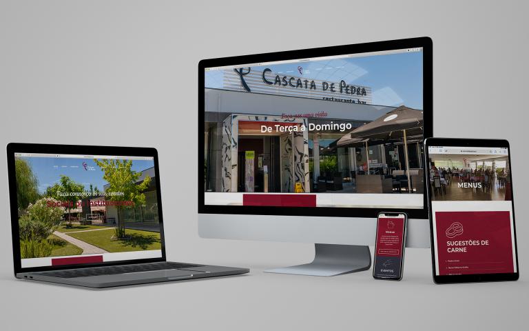 Desenvolvimento de website Cascata de Pedra