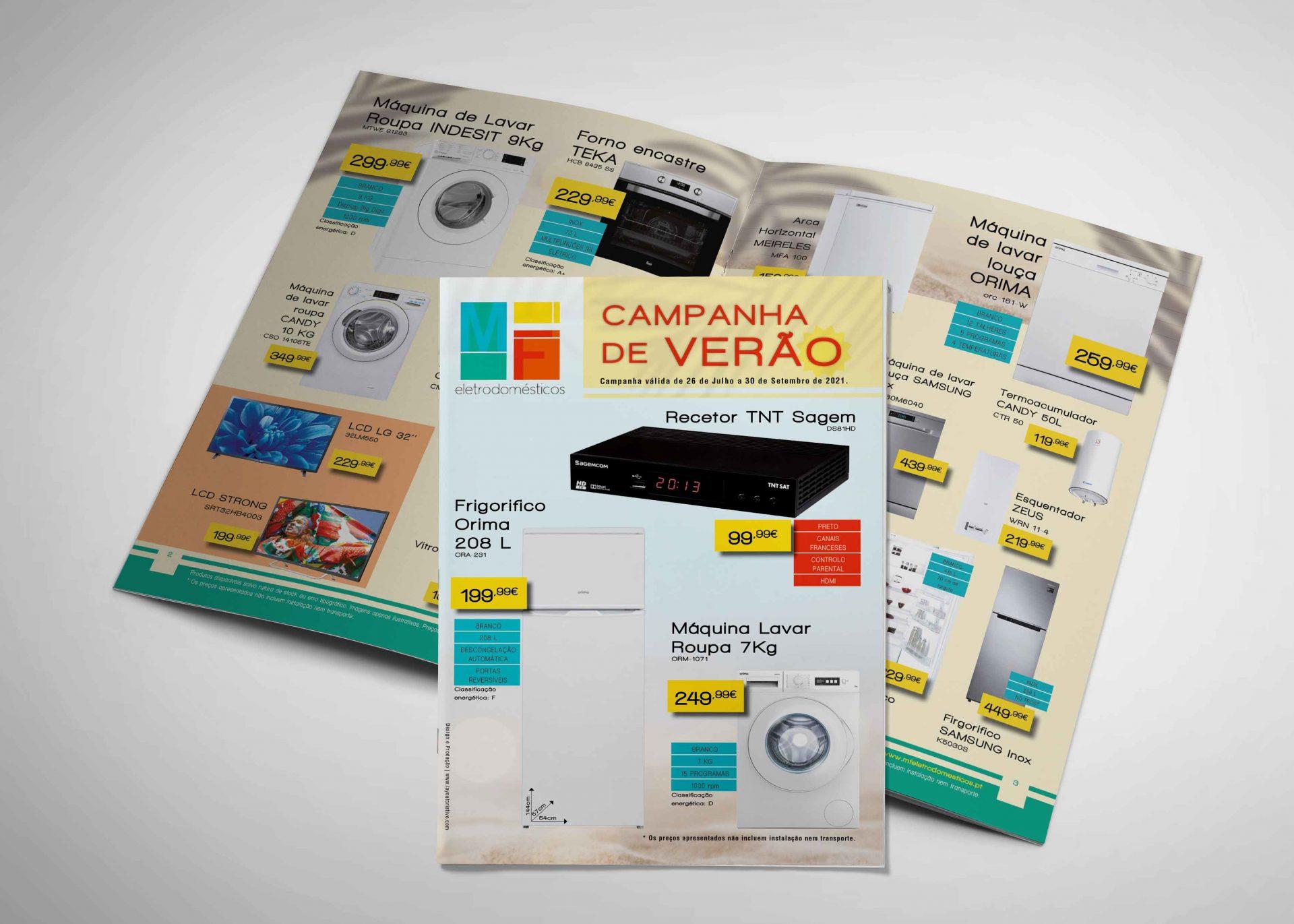 Desenvolvimento folheto promocional MFEletrodomésticos