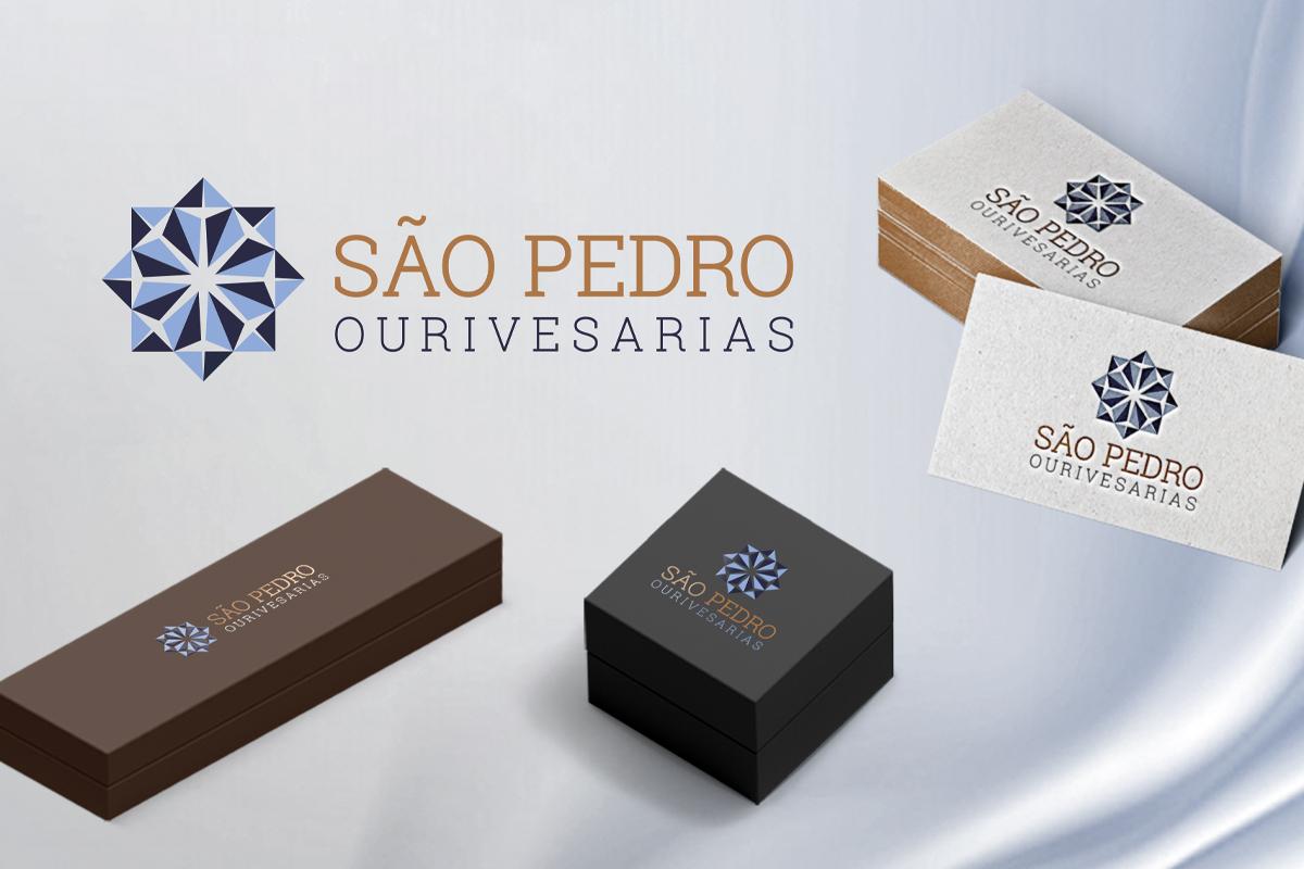 Design de comunicação Desenvolvimento Marca São Pedro Ourivesarias