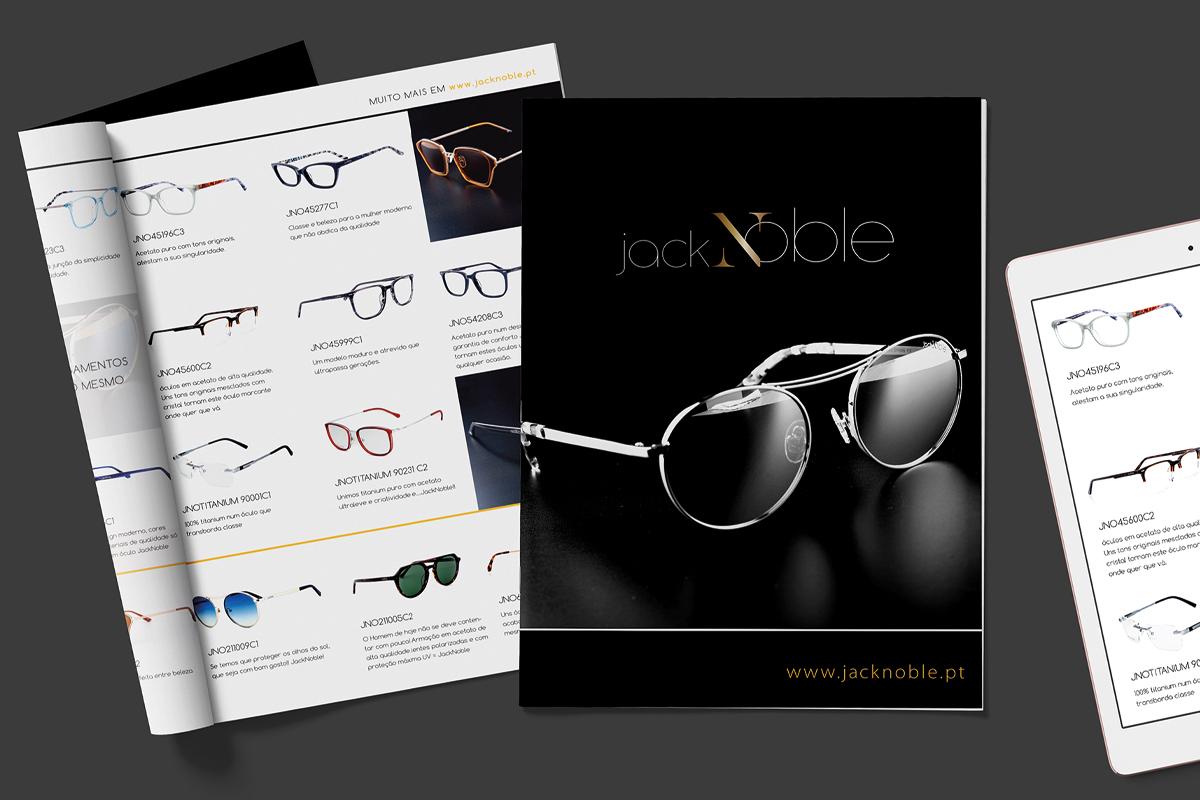 Design de comunicação catálogo JackNoble