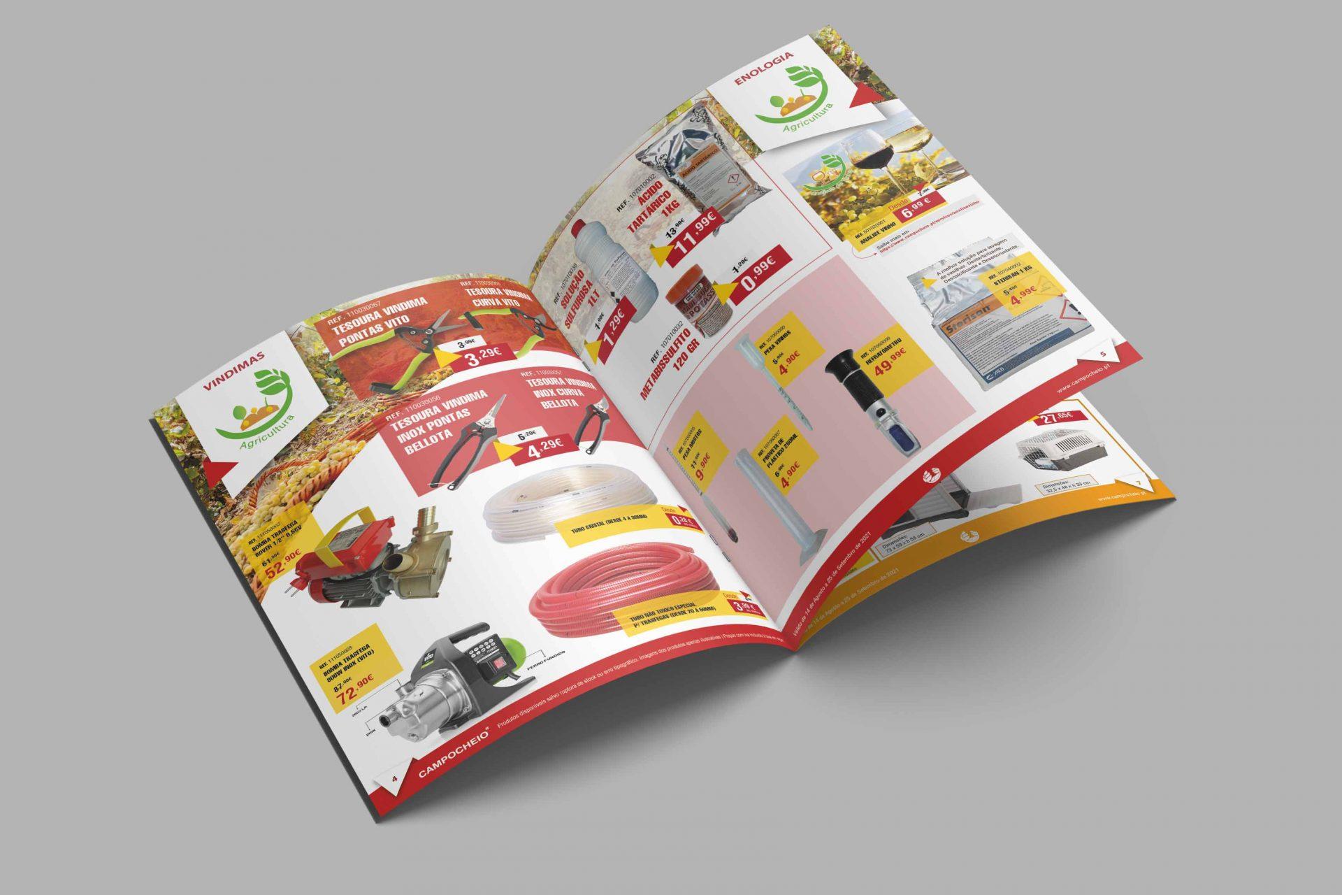 Desenvolvimento Folheto Vindimas 2021 Campocheio